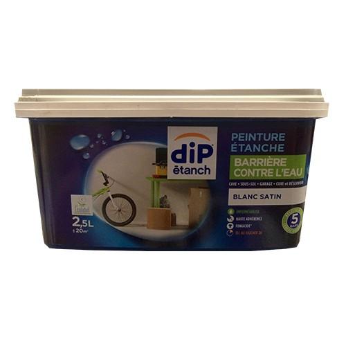 peinture dip barri re contre l 39 eau 2 5l blanc satin pas. Black Bedroom Furniture Sets. Home Design Ideas