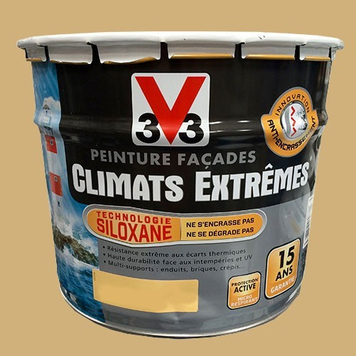 peinture v33 fa ade climats extr mes gr s jaune pas cher en ligne. Black Bedroom Furniture Sets. Home Design Ideas