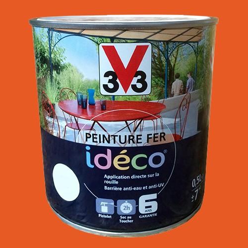 Peinture fer v33 id co mandarine satin pas cher en ligne - Peinture sur fer ...
