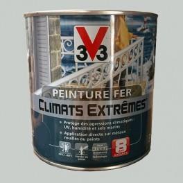"""Peinture Fer V33 """"Climats Extrêmes"""" Gris Chrome Brillant"""