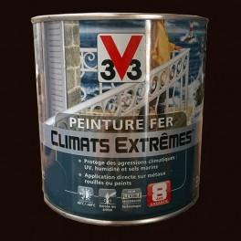 """Peinture Fer V33 """"Climats Extrêmes"""" Martele Rouille 0.5L"""