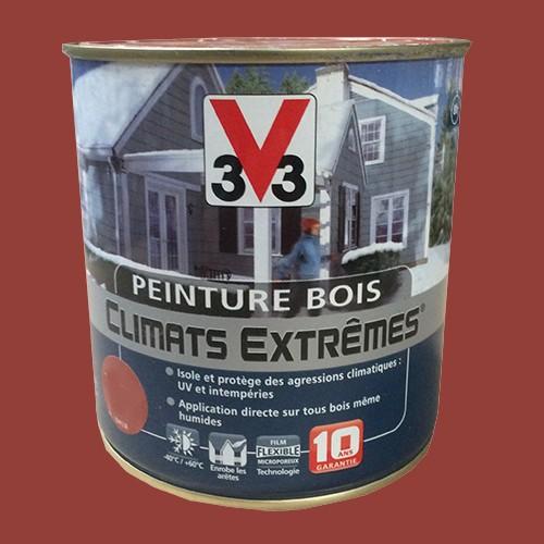 peinture bois v33 climats extr mes brillant terre d 39 ocre pas cher en ligne. Black Bedroom Furniture Sets. Home Design Ideas