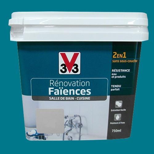 V33 r novation fa ences lagon satin pas cher en ligne - Peinture salle de bain v33 ...