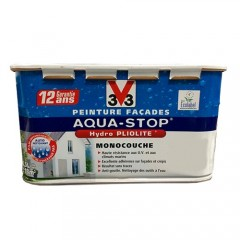 Peinture V33 Façade Aquastop Blanc Minéral Mat
