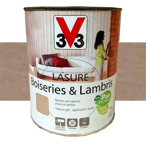 v33 lasure boiseries lambris gris taupe mat pas cher en. Black Bedroom Furniture Sets. Home Design Ideas
