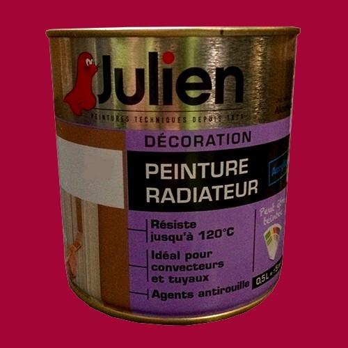 Peinture acrylique Radiateur JULIEN Griotte Satin