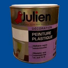 ... Peinture Plastique JULIEN Bleu Officier Satin