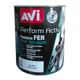 AVI Peinture Perform Activ Fer 2L Blanc Brillant