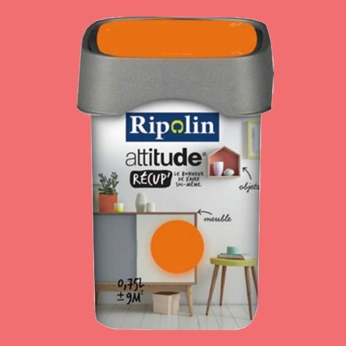 RIPOLIN Peinture Attitude Récup' Corail satin 0,75L
