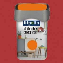 RIPOLIN Peinture Attitude Récup' Rouge coquelicot satin 0,75L