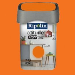 RIPOLIN Peinture Attitude Récup' Abricot satin 0,75L