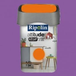 RIPOLIN Peinture Attitude Récup' Prune satin 0,75L