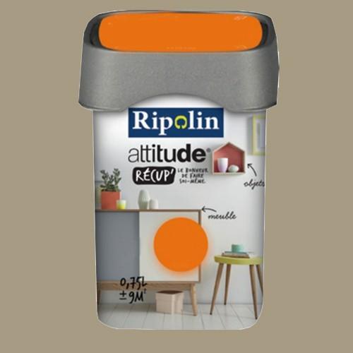 RIPOLIN Peinture Attitude Récup' Sépia satin 0,75L