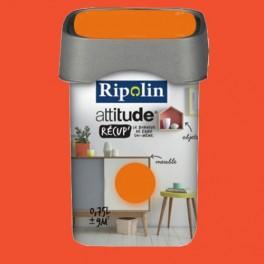 RIPOLIN Peinture Attitude Récup' Paprika satin 0,75L