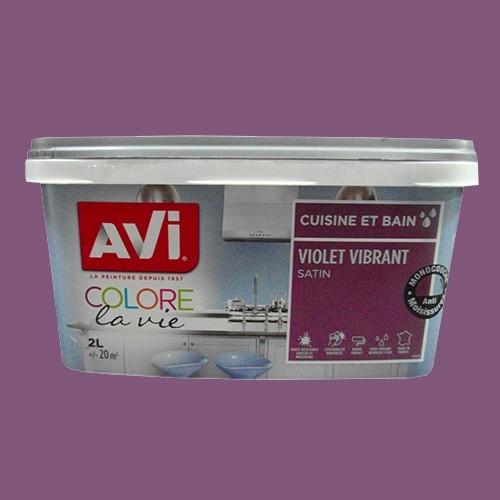 AVI Peinture Cuisine et bain 2L Violet vibrant Satin