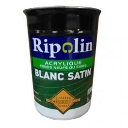 Ripolin peinture qualit professionnelle blanc mat pas for Peinture mur blanc mat ou satin