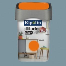RIPOLIN Peinture Attitude Récup' Gris bleu satin 0,75L