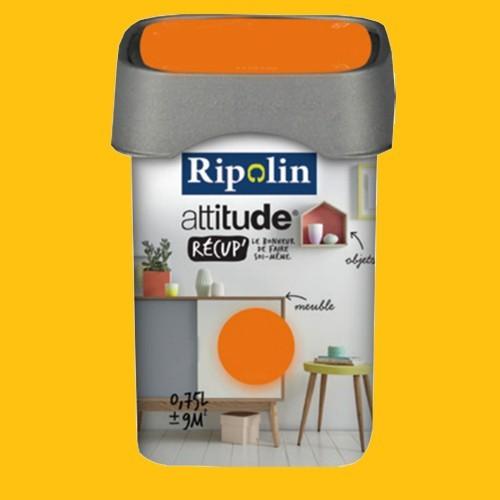 RIPOLIN Peinture Attitude Récup' Jonquille satin 0,75L