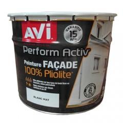 AVI Peinture Perform Activ Façade Pliolite 10L Blanc Mat