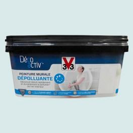 V33 Déco activ' Peinture murale Dépolluante 2,5L Bleu murmure satin