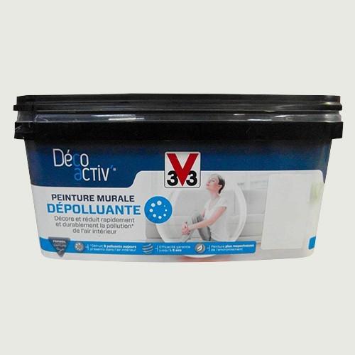 V33 Déco activ\' Peinture murale Dépolluante 2,5L Souffle de gris satin pas  cher en ligne
