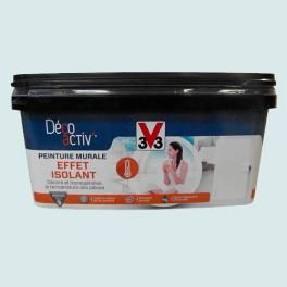V33 Déco activ' Peinture murale Effet Isolant 2,5L Bleu murmure mat