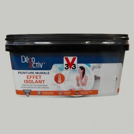 V33 Déco activ' Peinture murale Effet Isolant 2,5L Gris flanelle mat