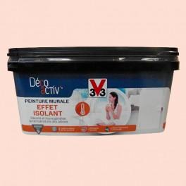 V33 Deco Activ Peinture Murale Effet Isolant 2 5l Rose Poudre Mat