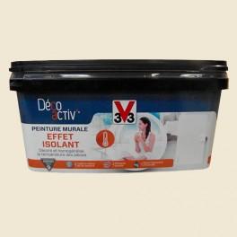 V33 Déco activ' Peinture murale Effet Isolant 2,5L Toile de lin mat