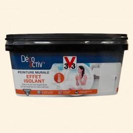 V33 Déco activ' Peinture murale Effet Isolant 2,5L Beige angora mat