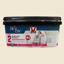 V33 Déco activ' Peinture murale Insonorisante 2,5L Toile de lin mat