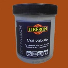 LIBÉRON Peinture Design Touch 0,5L Orange brulée Mat velouté