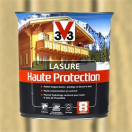 V33 Lasure Haute protection 8ans Naturel