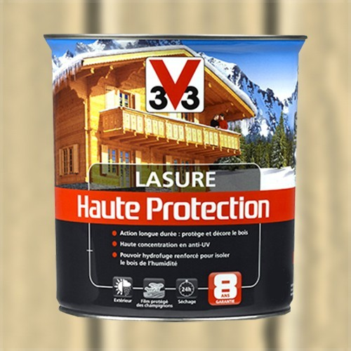 v33 lasure haute protection 8ans incolore pas cher en ligne. Black Bedroom Furniture Sets. Home Design Ideas