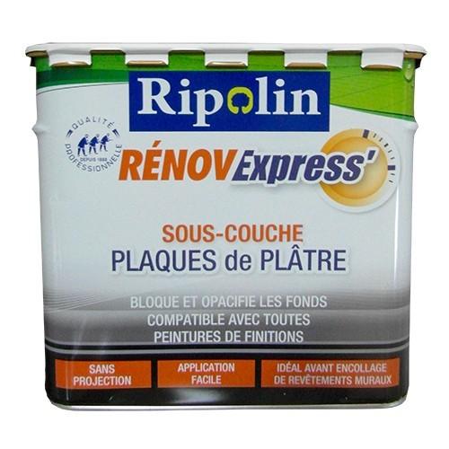 RIPOLIN Sous-Couche Rénov Express' Plaques de plâtre 5L