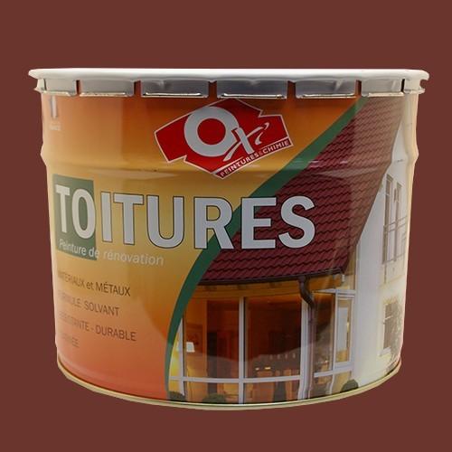Oxi peinture toitures 10l rouge pas cher en ligne for Peinture en ligne