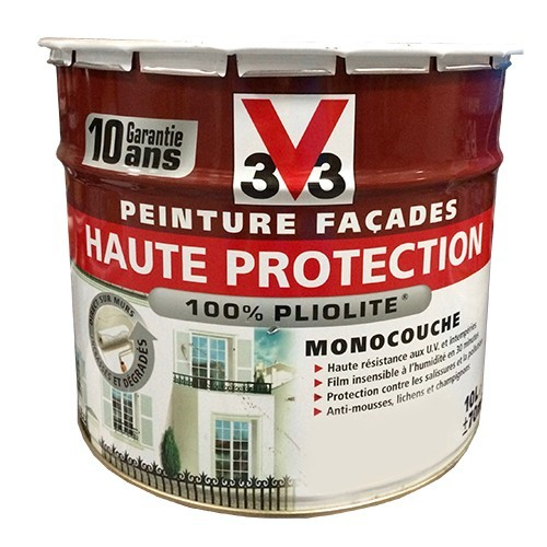 peinture v33 fa ade haute protection blanc pas cher en ligne. Black Bedroom Furniture Sets. Home Design Ideas