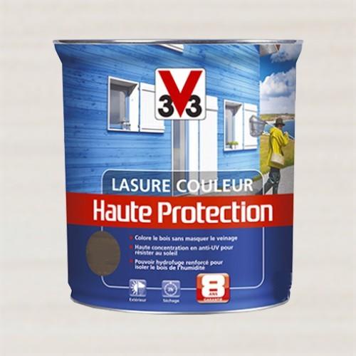 v33 lasure couleur haute protection 8ans blanc pas cher en ligne. Black Bedroom Furniture Sets. Home Design Ideas