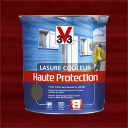 V33 Lasure Couleur Haute protection 8ans Rouge basque