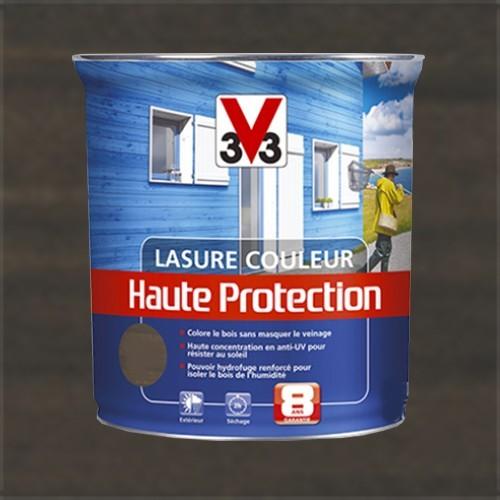 v33 lasure couleur haute protection 8ans anthracite pas cher en ligne. Black Bedroom Furniture Sets. Home Design Ideas