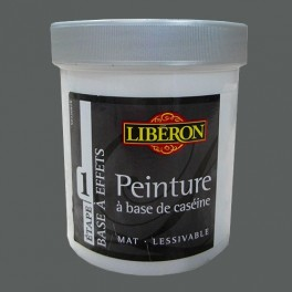 LIBÉRON Peinture à base de Caséine 0,5L Gris Trench coat