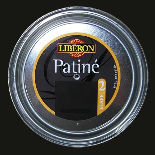 Lib ron effet patin 0 150l noir graphite pas cher en ligne for Peinture liberon effet metal caen