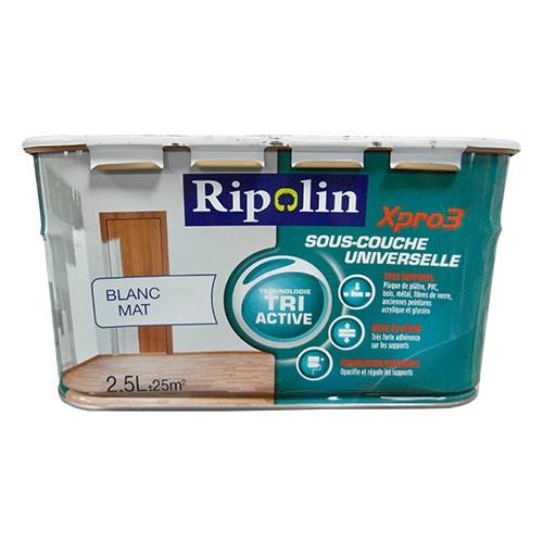 Ripolin Xpro Tri Active SousCouche Universelle Blanc Mat Pas Cher