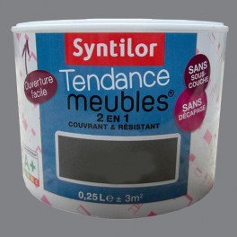 SYNTILOR Peinture Tendance Meubles Effet Laqué Gris béton
