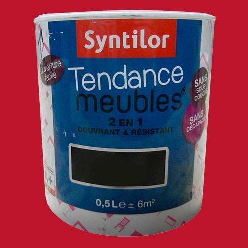 Syntilor peinture tendance meuble effet laqu rouge corail pas cher en ligne - Peinture meuble pas cher ...