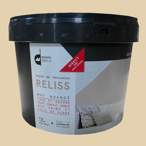 Maison d co enduit de r novation reliss 15kgs papier de - Peinture interieur maison pas cher ...