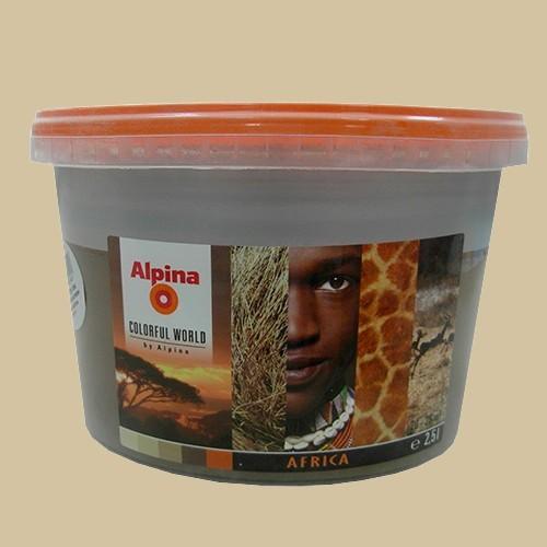 Alpina peinture acrylique mate africa authentic 2 5l pas cher en ligne for Peinture couleur mur pas cher
