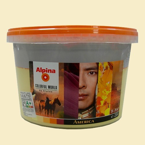 alpina peinture acrylique mate america light 2 5l pas cher en ligne. Black Bedroom Furniture Sets. Home Design Ideas