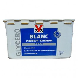 V33 Peinture Glycéro Blanc Mat