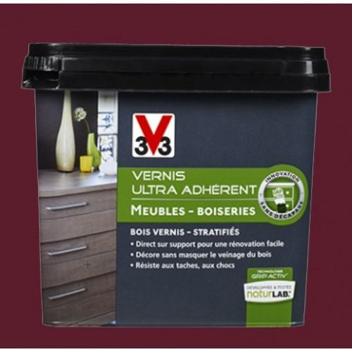 v33 vernis ultra adh rent 0 75l lie de vin pas cher en ligne. Black Bedroom Furniture Sets. Home Design Ideas